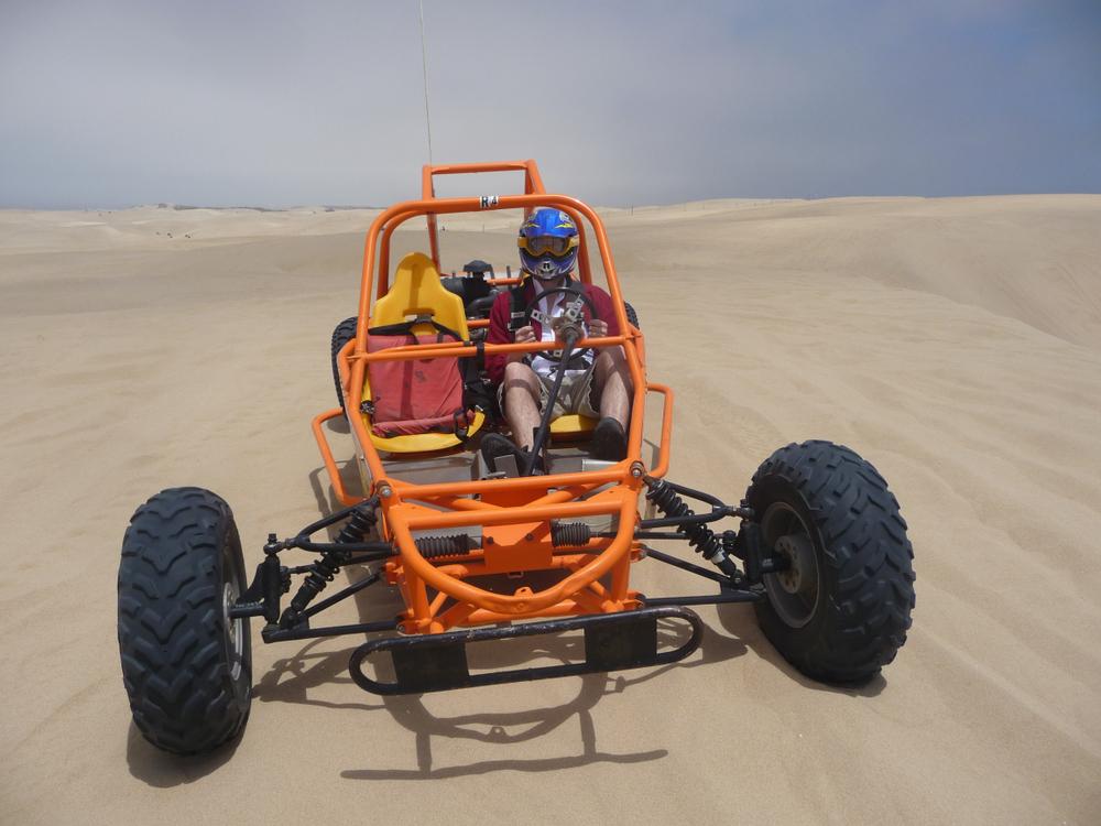 dune buggy on sand dunes